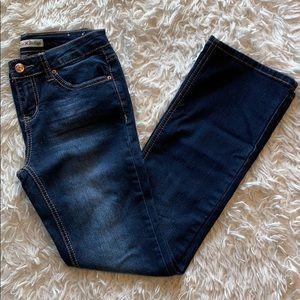 👖ADORABLE👖 Girl's Love Indigo Dark Wash Jeans